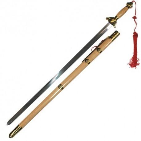 Epée chinoise semi-flexible avec fourreau, lame métal 76 cm