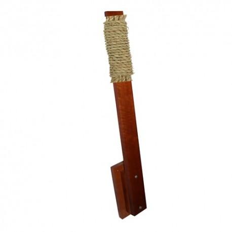 Poteau de makiwara en bois + Cible Raphia modèle rond