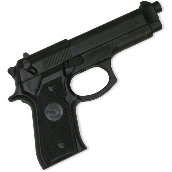 Pistolet d'entraînement en caoutchouc, modèle réaliste - NOIR