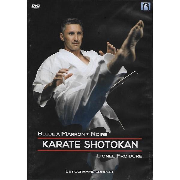 Karaté Shotokan, bleue à marron + noire - Lionel Froidure