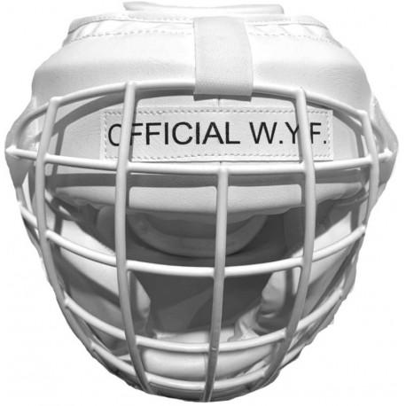 Casque Offiiel WYF avec grille métal amovible - BLANC