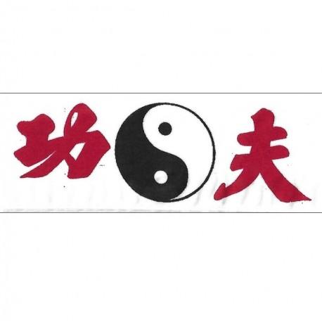 Bandeau Yin Yang, 122 x 5,5 cm - Blanc