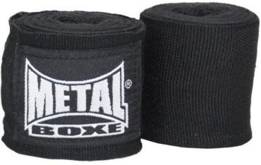 Bandes de boxe coton élastique MB (la paire) - 2,5 m - NOIR